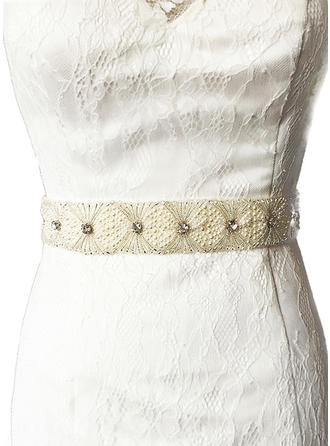 Women Satin With Rhinestones Sash Stylish Sashes & Belts
