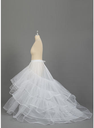 PLUS SIZE Petticoats Nylon/Tulle Netting Ball Gown Slip 3 Tiers Special Occasion Petticoats